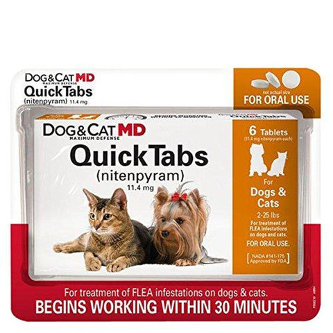 Dog MD QuickTabs Flea Treatment Dogs and Cats 2 25 LB-CAT-Sentry-Pets Go Here cat, flea, pet meds, quicktabs, sentry Pets Go Here, petsgohere