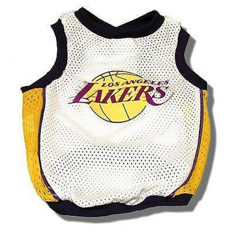 Los Angeles Lakers Dog Jersey Basketball-DOG-Sporty K9-X-LARGE-Pets Go Here dc, jersey, l, m, s, sports, sports jersey, sporty k9, white, xl, xs Pets Go Here, petsgohere