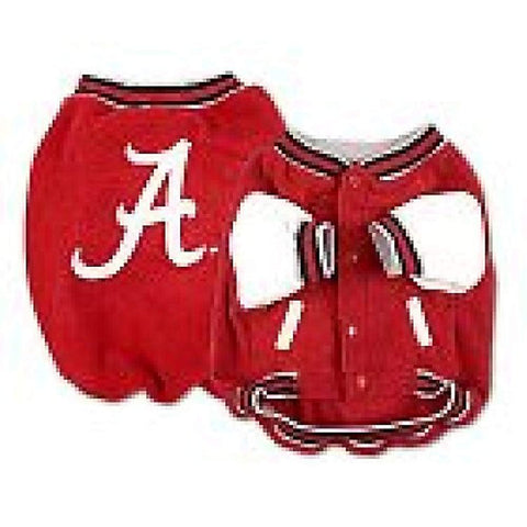NCAA Alabama Crimson Tide Varsity Dog Jacket dog, dog coat, ncaa, sports, sports coat Pets Go Here, petsgohere