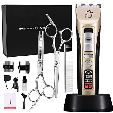Cyrico Professional Pet Grooming Clippers 5-Speed clippers, cyrico, dog, grooming, kit, led, trimmers Pets Go Here, petsgohere
