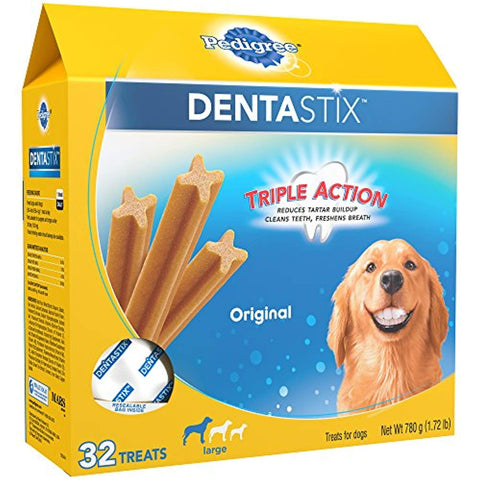 Pedigree Dentastix Original Large Treats Dogs, 32 Treats Chewy, Dental, Soft Treats Pets Go Here, petsgohere