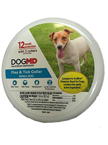DogMD Maximum Defense Flea and Tick Collar collar, dog, flea, flea collar, over 25 lb, tick, treatment, under 25 lb Pets Go Here, petsgohere