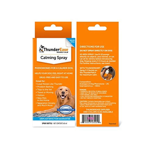 ThunderEase Dog Calming Pheromone Spray anxiety, thunderease Pets Go Here, petsgohere
