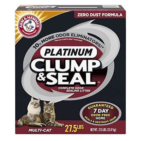 Arm & Hammer Clump & Seal Multi-Cat Litter-CAT-Arm & Hammer-27.5 Lb-Pets Go Here arm & hammer, cat, cat litter, litter, multi-cat, waste Pets Go Here, petsgohere