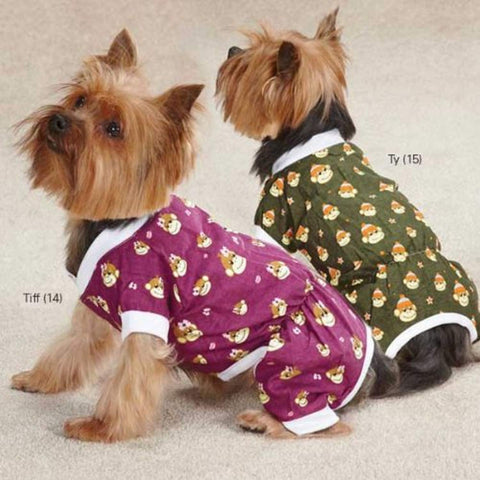 ESC Monkey Business Dog Pajamas Tiff MEDIUM dog, dog clothes, dog pajamas m, east side collection, monkey, pajamas, raspberry, tiff Pets Go Here, petsgohere
