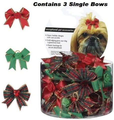 Aria Holiday Glam Dog Bows