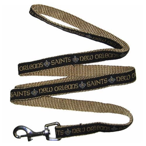 New Orleans Saints Leash Embroidered-DOG-Pets First-Pets Go Here 4 ft, 6 ft, nfl, nylon Pets Go Here, petsgohere