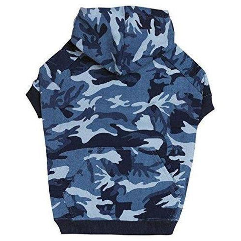 Casual Canine Camo Dog Hoodie-DOG-Casual Canine-BLUE-X-SMALL-Pets Go Here blue, casual canine, cat, clothes, dog clothes, fleece, hoodie, l, m, m/l, s, s/m, shirt, xl, xs Pets Go Here, petsgohere
