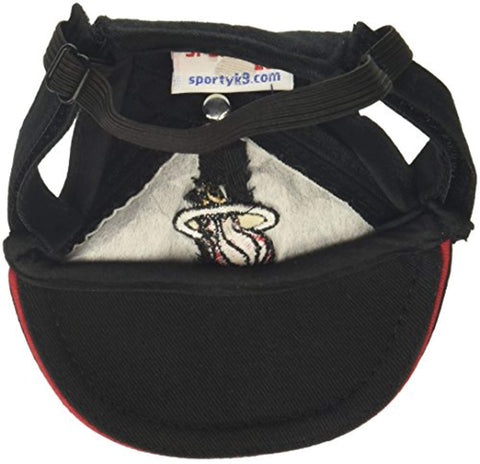 MLB Miami Heat Dog Hat SMALL ball cap, dc, dog, hat, miami heat, nba, nba hat Pets Go Here, petsgohere