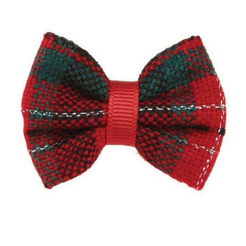 Aria Holiday Plaid Dog Bow Canister
