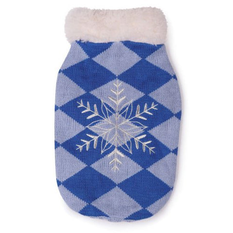 ESC Snowflake Snuggler Dog Sweater BLUE-DOG-East Side Collection-LARGE-Pets Go Here 4 ft, blue, east side collection, l, m, s, sweater, xl, xs, xxs Pets Go Here, petsgohere