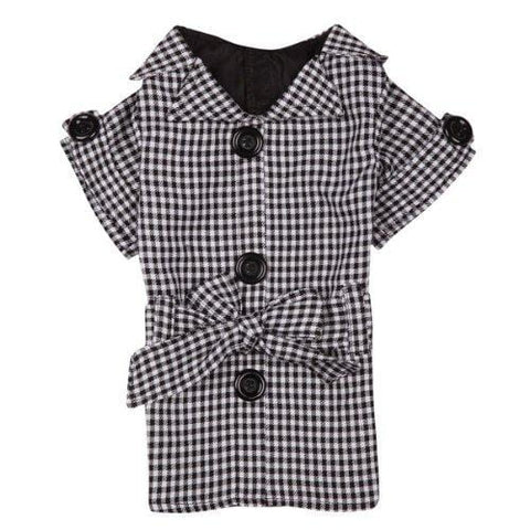 The First Lady Gingham Dog Trench Coat-DOG-Zack & Zoey-LARGE-Pets Go Here