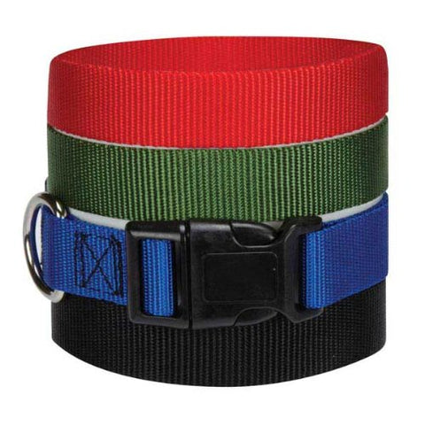 Guardian Gear Nylon Dog Collar-DOG-Guardian Gear-6-10 In-BLUE-Pets Go Here 6-10 in, black, blue, dog collar, green, guardian gear, nylon, red, test Pets Go Here, petsgohere