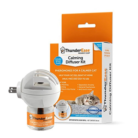 ThunderEase Cat Calming Pheromone Diffuser Kit