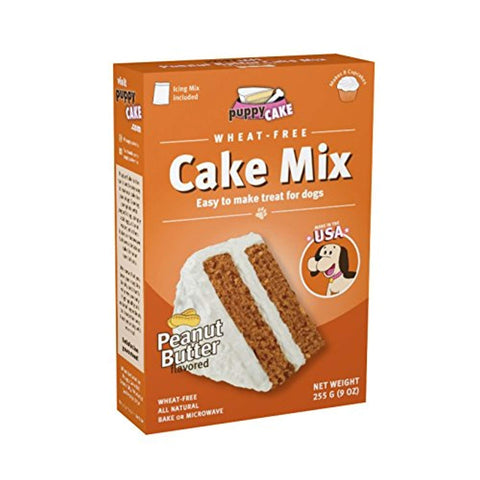 Puppy Cake Cake Mix and Frosting Dog Treats WHEAT-FREE birthday, dog, peanut butter, pumpkin, puppy cake, red velvet, treat Pets Go Here, petsgohere