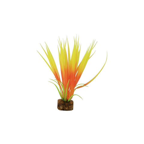 GloFish Aquarium Plant Decoration Green/Orange S