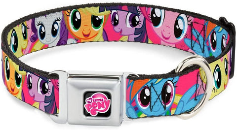 Buckle Down Dog Collar My Little Pony Logo Black/Pink