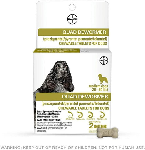 Bayer Quad Dewormer M 26-60 Lb