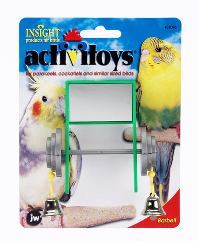 JW Pet Activitoy BARBELL bird toys Pets Go Here, petsgohere