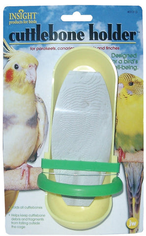 JW Pet Insight Cuttlebone Holder bird, bird toys, ds, perch Pets Go Here, petsgohere