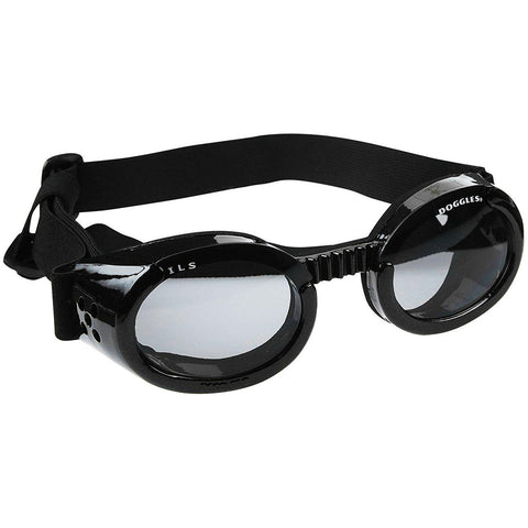 Doggles Dog Sunglasses Metallic Black Frame and Smoke Lens-DOG-Doggles-X-SMALL-Pets Go Here accessories, black, doggles, eye, goggles, red, sunglasses, xs Pets Go Here, petsgohere