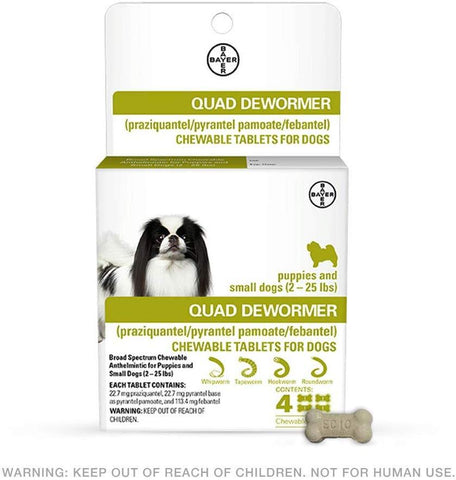 Bayer Quad Dewormer S 2-25 Lb