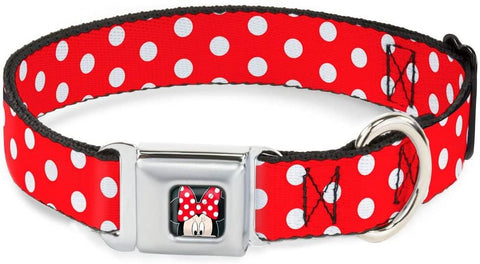 Buckle Down Dog Collar Minnie Mouse Dots