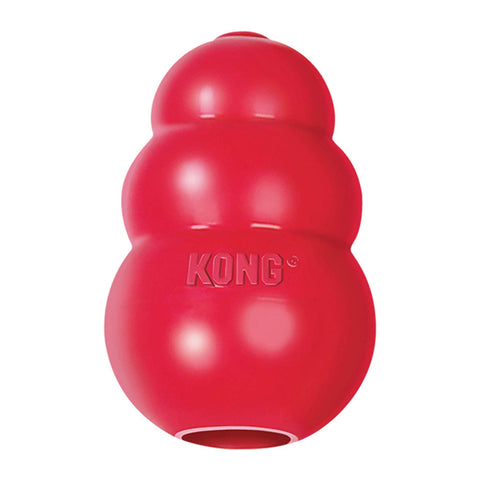 Kong Classic Rubber Dental Dog Toy dog, dog toy, kong, red, squeak cat toy, toy Pets Go Here, petsgohere