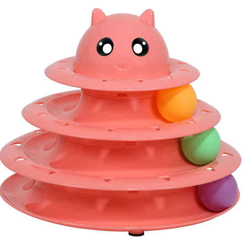 UPSKY Cat Toy Roller Ball Cat Toys 3 Level Tower
