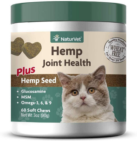 NaturVet Hemp Joint Health for Cats 60 Soft Chews