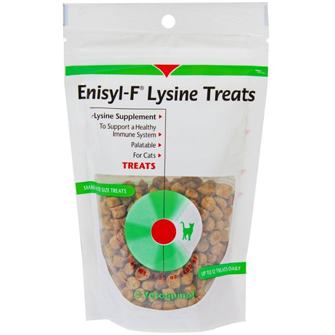 VETOQUINOL Enisyl-F Lysine Treats 6.35 oz Re-Closable Pouch (180gm) 1-Pack-DOG-VETOQUINOL-1 Pack-Pets Go Here