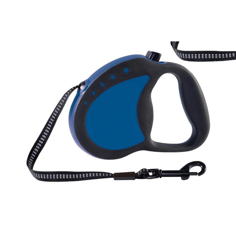 Guardian Gear Retractable Reflective Leash-DOG-Guardian Gear-BLUE-SMALL-Pets Go Here blue, guardian gear, leash, nylon, raspberry, red, reflective, retractable, retractable leash, rubber Pets Go Here, petsgohere
