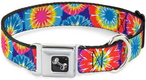 Buckle Down Dog Collar Tie Dye