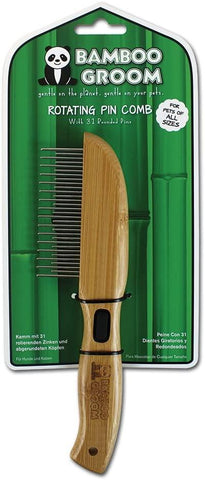 Bamboo Groom Rotating Pin Brush 31 Pins
