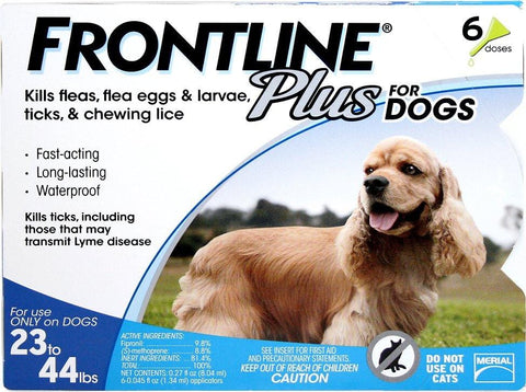Frontline Plus for Dogs 23-44 LB