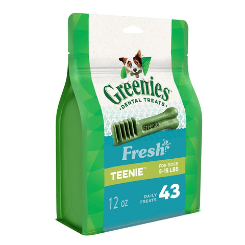 GREENIES Fresh Natural Dental Dog Treats Petite Size (15-25 Lb dogs)