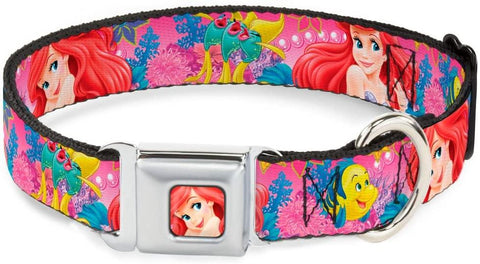 Buckle-Down Seatbelt Buckle Dog Collar The Little Mermaid Pink