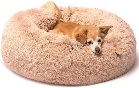Friends Forever Donut Cat Bed M Tan