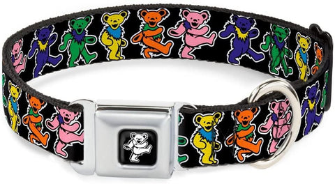 Buckle Down Dog Collar Grateful Dead Dancing Bears L