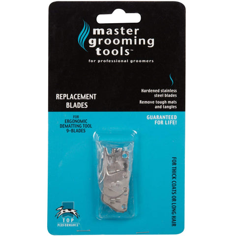 Master Grooming Tools Stainless Steel Ergonomic DeMatting Blade Replacement Set blades, comb, dematting, dog, ergonomic, grooming, master grooming tools, replacement Pets Go Here, petsgohere