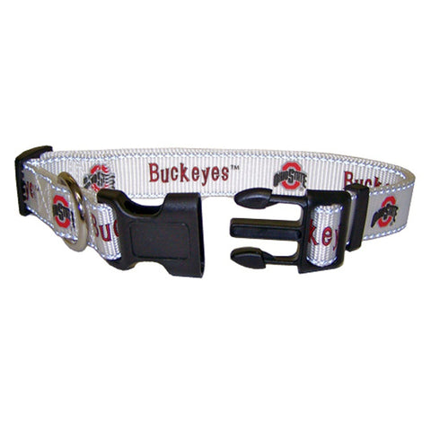Ohio State Buckeyes Dog Collar-DOG-Pet Goods-SMALL-Pets Go Here 4 ft, l, m, m/l, ncaa, nylon, pet goods, s, s/m, sports, sports collar, xl, xs Pets Go Here, petsgohere