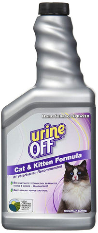 urineOFF Cat & Kitten Stain and Odor Remover and Pheromone Blocker 16.9 Oz
