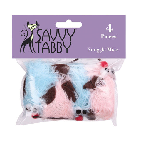 Savvy Tabby Snuggle Mice Cat Toys 4 PACK