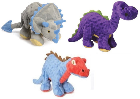 GoDog! Dinos with Chew Guard Tough Plush Dog Toys