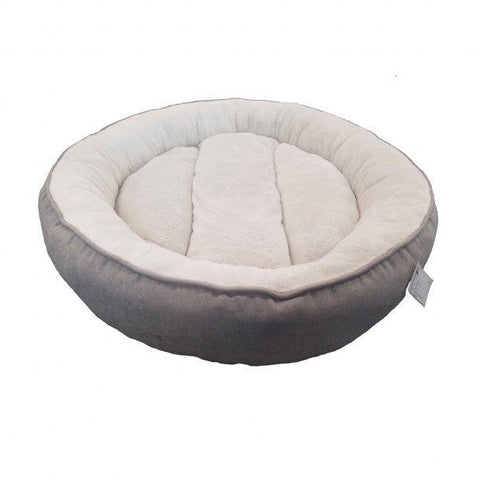 Petcrest Round Dog Bed Grey