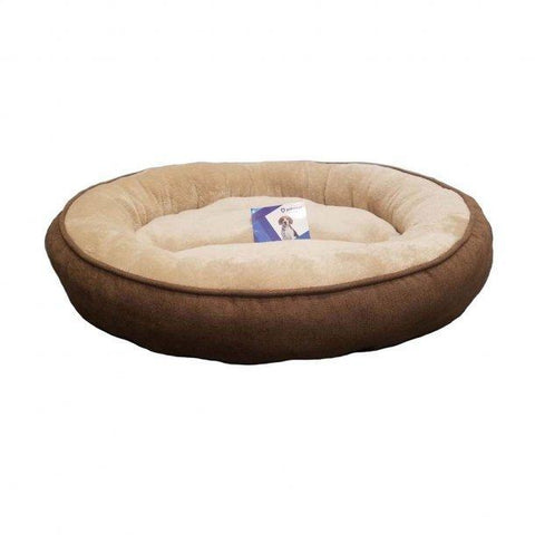 Petcrest Donut Bed Brown 25""
