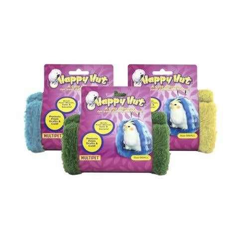 "Multipet Happy Hut Assorted Colors 5"" 5in, bird toys Pets Go Here, petsgohere"