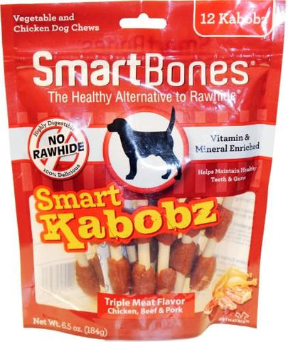 SmartBones Kabobz Chew Treats for Dogs