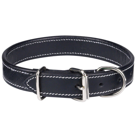 Casual Canine Leather Dog Collar-DOG-Casual Canine-11-14 In-BLACK-Pets Go Here