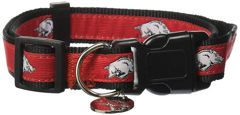 NCAA Arkansas Razorbacks Dog Collar dog, dog coat, edit, ncaa, sports, sports coat Pets Go Here, petsgohere